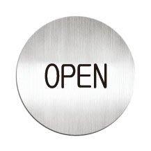 [職人の紙.二店工場] 美國迪多 Deflect-o/高質感鋁製品 系列/標示貼牌/OPEN  圓形/含稅價 !