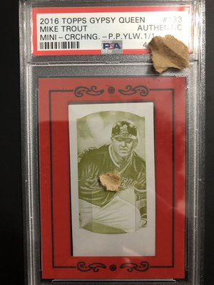 美的古董-MLB現代最強球員Mike Trout2016年topps gypsy queen球員卡限量1張PSA鑑定