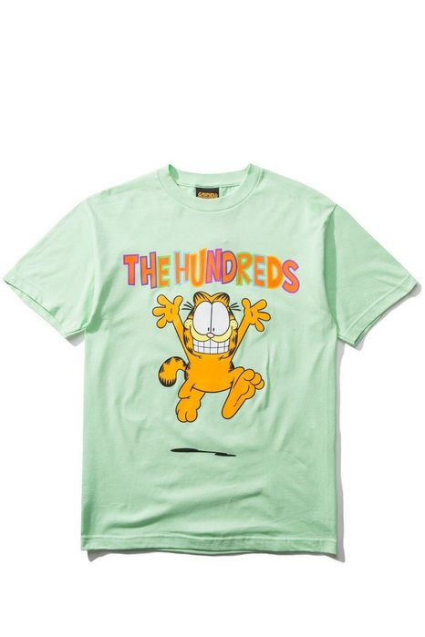 THE HUNDREDS X GARFIELD RUN T-SHIRT - MINT 薄荷綠【Hopes Taiwan】