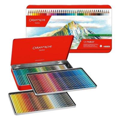 板橋酷酷姐美術 瑞士卡達caran d'ache120色Pablo油性色鉛筆!Pablo120色鐵盒!  下標前請先詢問
