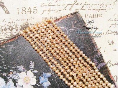 天然石.DIY材料 天然粉橘色隨形淡水珍珠16顆入【F9536】約4-5mm手工飾品《晶格格的多寶格》