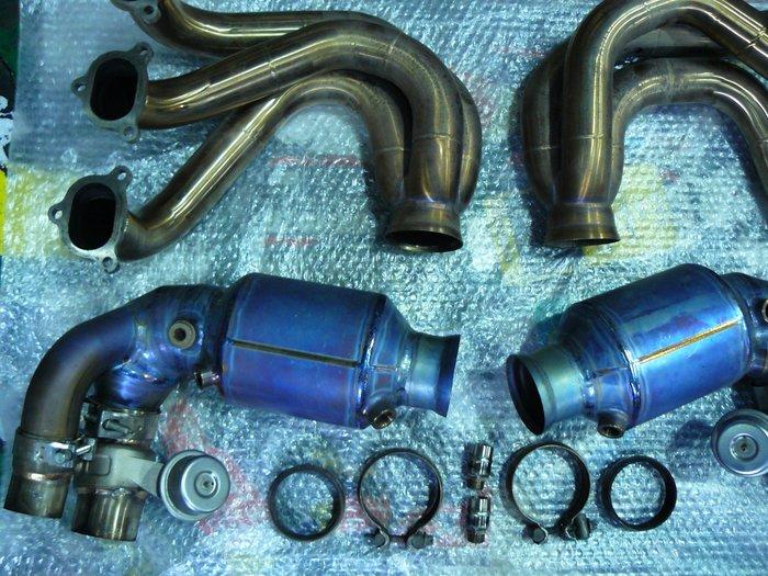 PORSCHE 997 GT3 RS 原廠排氣管 芭蕉 中段 尾段 (另有 100%鈦合金排氣管) 專業安裝服 911