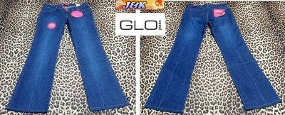 【J&K嚴選】美國GLO 牛仔褲 喇叭 彈性 低腰 靴型~顏色:牛仔藍-女款 尺寸:11號【特價】LV來自星星的