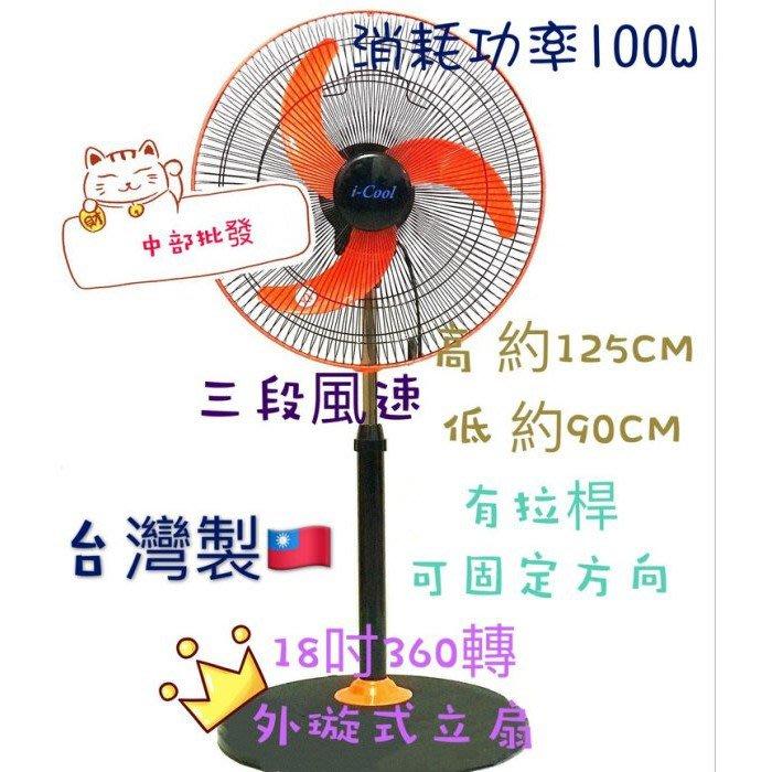 『超便宜』18吋 360度涼風扇 風扇 客廳 辦公室循環電扇 電風扇 立扇 外旋式風扇 360度循環扇 360旋轉立扇