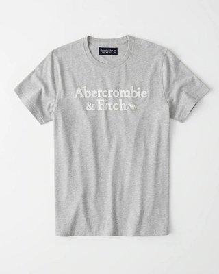 Maple麋鹿小舖 Abercrombie&Fitch * AF 灰色電繡麋鹿字母短T  * ( 現貨S/L號 )