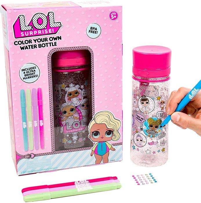 預購 美國帶回 L.O.L. Surprise 自己動手彩繪水壺 聖誕禮 生日禮
