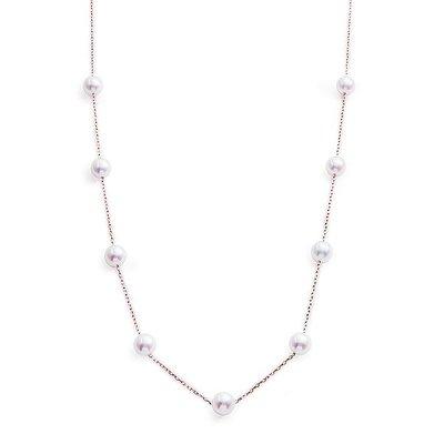【JHT 金宏總珠寶/GIA鑽石專賣】天然珍珠串鍊/材質:18K(PP00064)