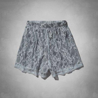Maple麋鹿小舖 Abercrombie&Fitch * AF 灰色蕾絲繡花褲裙  *( 現貨XS/L號 )