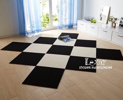 日本進口拼接地毯自吸防滑簡約定制滿鋪辦公室地毯客廳臥室門墊