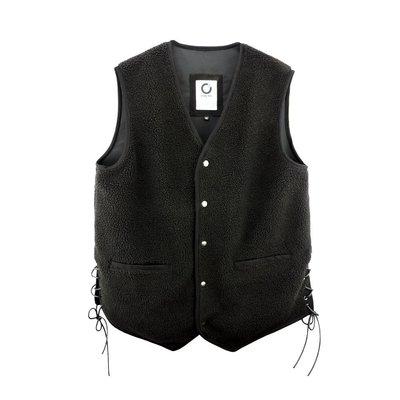 O'WEAR® Hard Rock Vest - 黑色款 背心 重機 街頭 穿繩 HipHop