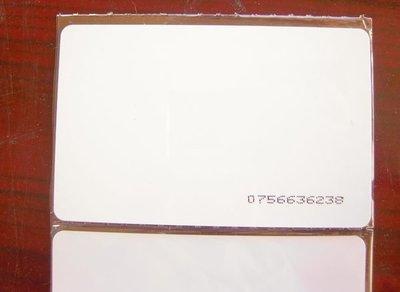 .【MC18感應卡】↓mifare卡 防拷貝 帶噴碼 保全防盜考勤停車感應卡13.56Mhz PVC空白卡貴賓卡會員卡