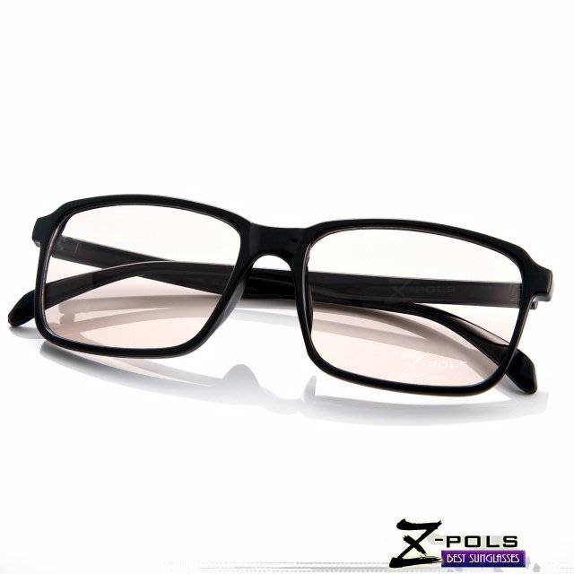 視鼎Z-POLS 獨特個性設計亮黑 專業抗藍光眼鏡