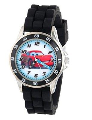 美國加州好物代購 正版Disney Cars 閃電麥坤 黑色橡膠錶帶 兒童指針石英錶 童錶 學習手錶 生日禮 聖誕禮