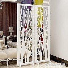 歐式屏風隔斷客廳現代簡約玄關鏤空隔斷雕花折屏白色裝飾折疊移動 『花開物語』