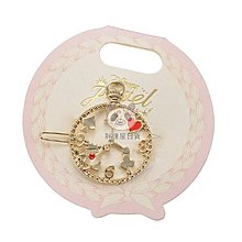 ✪胖達屋日貨✪日本正版 Disney 迪士尼商店 Alice 愛麗絲夢遊仙境 韓國製 懷錶時鐘兔 金屬 鏤空 髮飾 髮夾