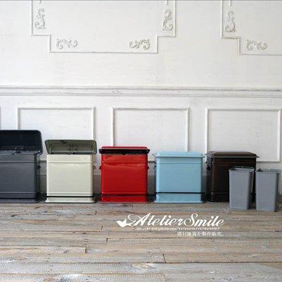 [ Atelier Smile ]  鄉村雜貨 日本直送 DULTON 金屬 分類垃圾桶 腳踏 緩降垃圾桶 (預購)