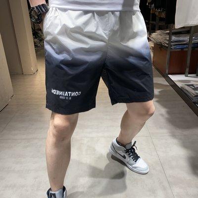 歐韓貨JIYAO夏季五分潮牌短褲ins休閒運動寬松直筒時尚漸變網紅沙灘褲男