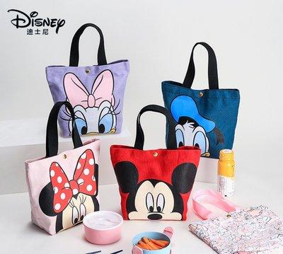 正版授權 迪士尼米奇米妮帆布袋唐老鴨黛絲帆布便當袋午餐包手提袋學生卡通便當包野餐包萬用袋外出手提袋