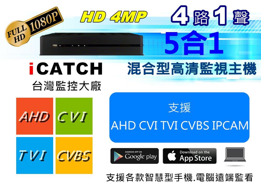 🍓艾比~3C&監控🍓iCATCH可取 400萬 AHD 4路 監控主機 1080P攝影機 監視器