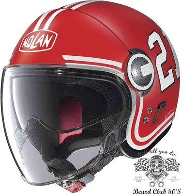 ♛大鬍子俱樂部♛ Nolan® N21 Quarterback 義大利 復古 哈雷 都會 Jet 安全帽 紅色