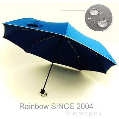 【ビッグ拨水】S.W.R_EPP 輕質大撥水機能 / 精巧版 (藍) /雨傘防UV傘防風傘三折傘大傘抗UV傘陽傘(免運)