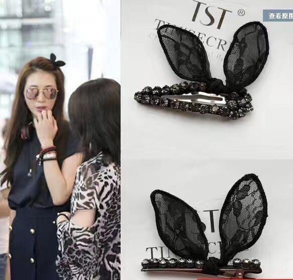 志玲姐姐同款的蝴蝶蕾絲髮夾/新娘頭髮新娘飾品新娘秘書的最佳選擇