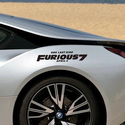 汽車貼紙 速度和激情個性裝飾貼 車門后玻璃窗機蓋貼改裝型號SD2