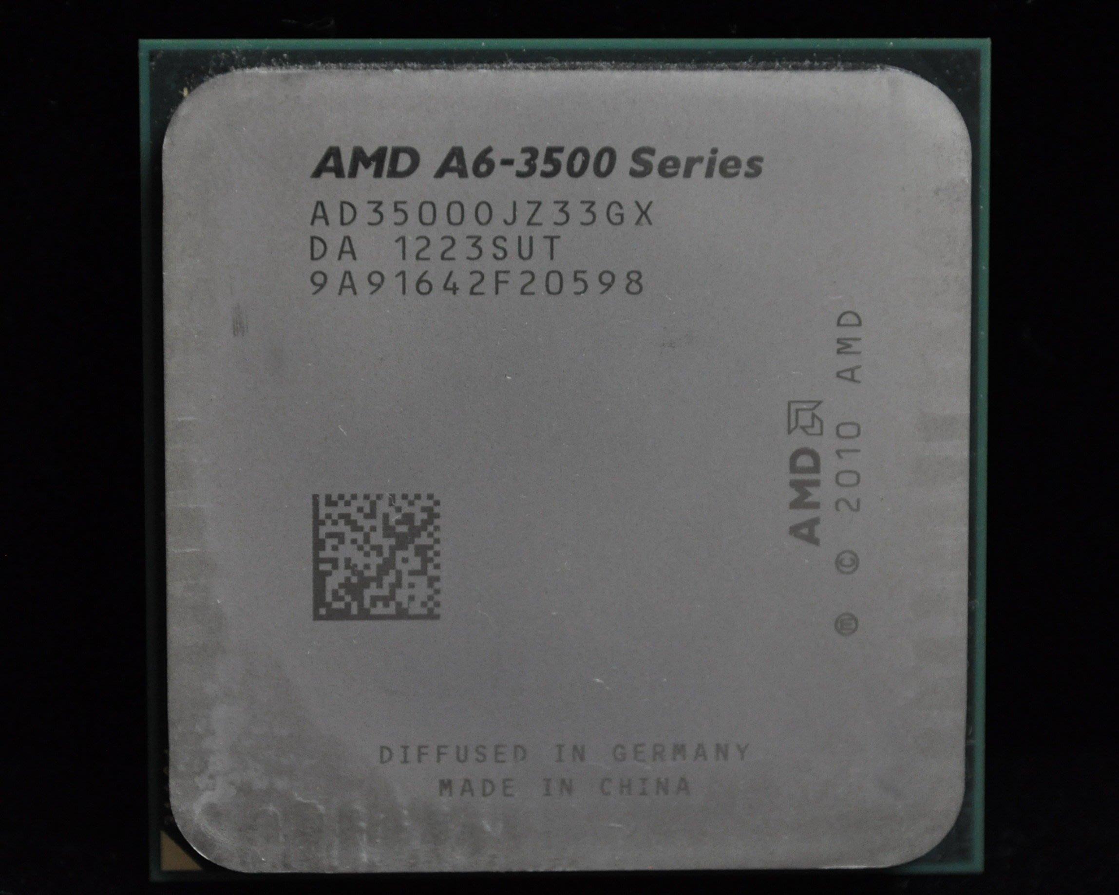 AMD A6-3500 三核盒裝正式版 (FM1 2.4G) 3600 3620 3650 A4-3400 3450參考