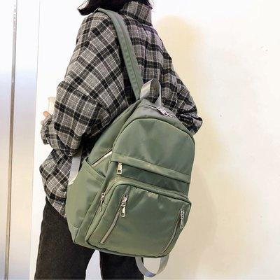 【洛本】書包女韓版高中初中學生防水雙肩包古著感校園簡約森系背包大容量B10