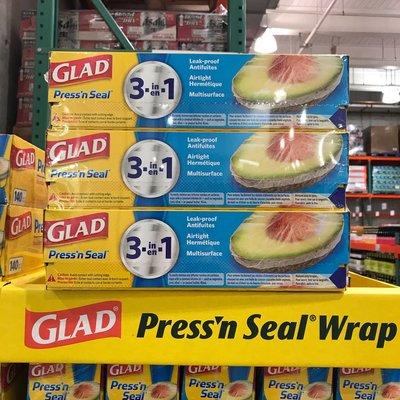 Costco好市多 GLAD 強力保鮮膜 3入  press'n seal wrap