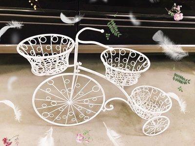 無折扣【華蕊】*鐵製3盆自行車*居家裝飾 花園造景 花園佈置 庭院佈置 婚禮佈置 會場佈置 花架 低價 促銷 出清