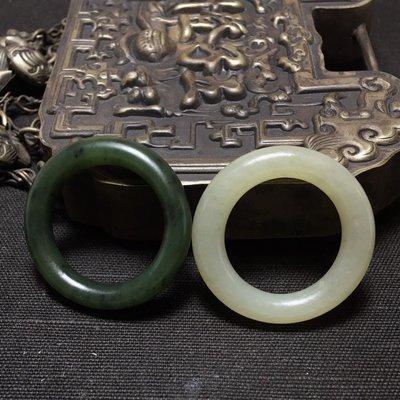 [古玩意]新疆和闐玉和田玉小環二個
