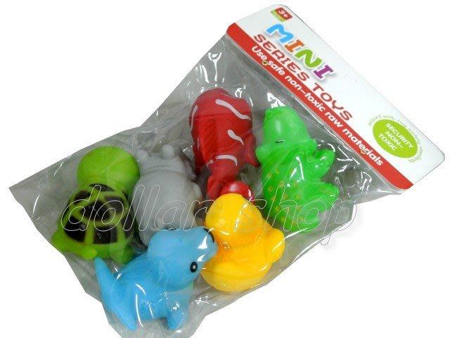 寶貝玩具屋二館☆【寶寶】超可愛洗澡玩具/ST安全玩具啾啾可愛小動物6入