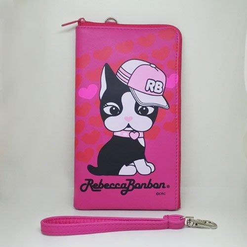 Rebecca Bonbon 大頭狗 6.4吋 多功能L型保護套 手機保護套粉紅 L夾 - 附手提繩