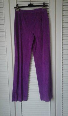 ESCADA 艷紫色燈芯絨直筒褲