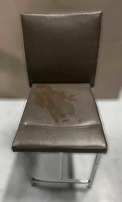 台中二手家具買賣 推薦 西屯樂居 F0406EJJ 咖啡色皮餐椅 洽談椅 書桌椅 電腦椅 會客椅 2手各式桌椅拍賣
