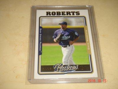 美國職棒 Dodgers Manager Dave Roberts 2005 Topps #604 球員卡