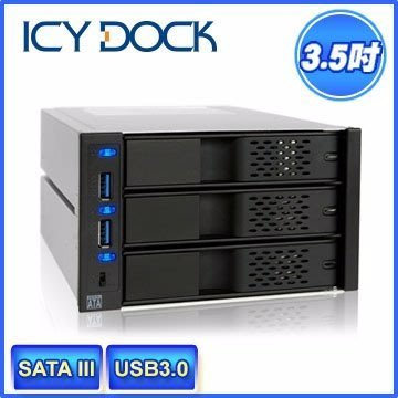 【kiho金紘】 ICY DOCK MB973SP-2B 內接式 MB973不用抽取盒 熱抽換USB 3.0 台中市
