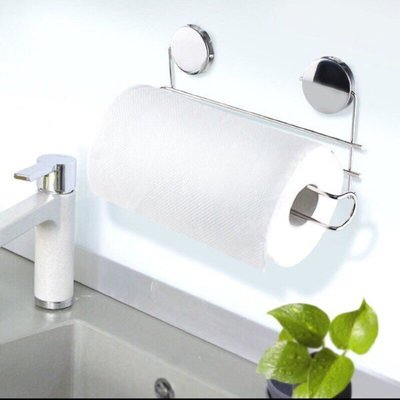 熱銷 不鏽鋼吸鐵捲筒紙巾架 保鮮膜 紙巾架 磁鐵 收納 冰箱 台灣製造 冰箱【CF-02A-16217】