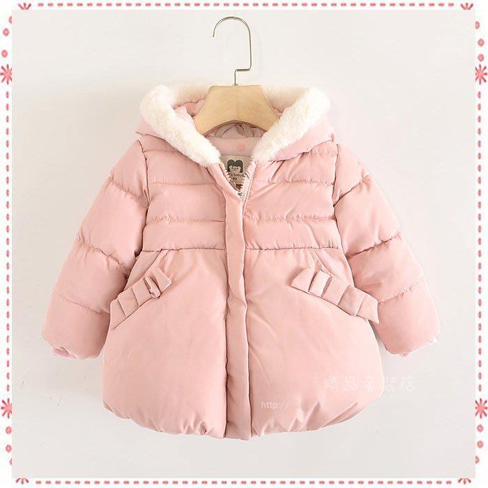 貝克比比屋☆歐單 粉色防風加絨鋪棉外套/娃娃外套*80cm.90cm.100cm.110cm.115cm