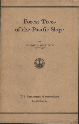 ///李仔糖舊書*1908年英文原版Forest Trees of Pacific Slope附手繪植物插圖共207幅