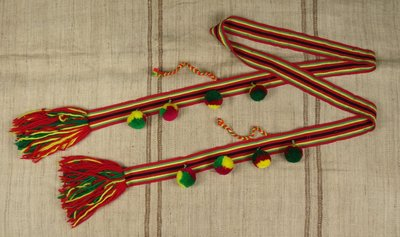 [ 珠舍 ] 原住民阿美族男子珠繡腰帶.男帽 *低價起標*標多少賣多少*