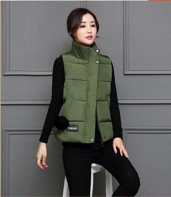 馬甲女秋冬裝韓版短款學生棉衣服外套女裝無袖背心坎肩