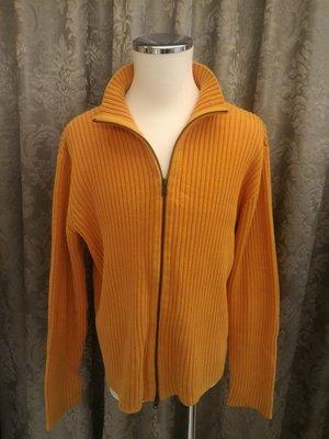 二手良品 Polo Jeans Ralph Lauren 長袖拉鍊毛衣 橘色 7-8成新 100% 純棉 M號 RL