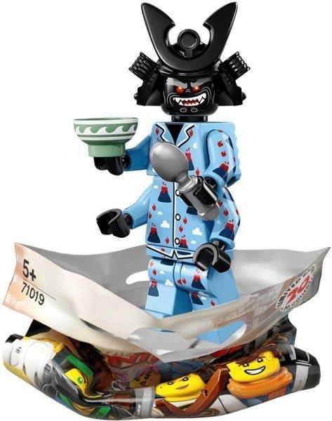 現貨【LEGO 樂高】積木 / 人偶包系列 忍者電影 71019   #16 火山睡衣伽瑪當+碗+湯匙 Garmadon