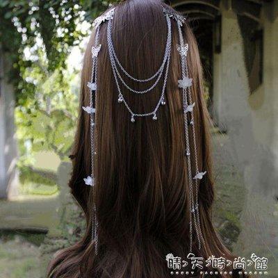 裝cos古風頭飾髮飾吳倩同款表演出漢服配飾古典髮簪流蘇對髮夾