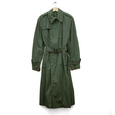 美軍 公發 雙排扣大衣 美軍全天候 風衣 軍官大衣 古著 二手 RAINCOAT AG 274