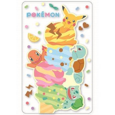 Pokemon精靈寶可夢冰淇淋透明悠遊卡