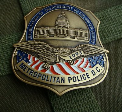 美金屬徽章 美國華盛頓大都會徽章 總統克林頓就職典大章 純銅