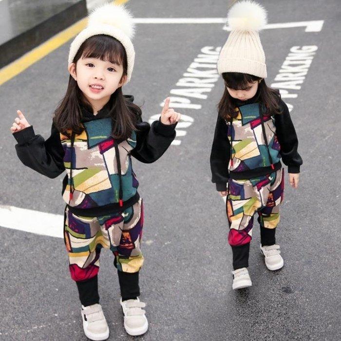 999寶寶金絲絨套裝女童秋冬裝2018新款洋氣5兒童加厚雙面絨兩件套3歲01KK12